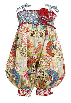 Bonnie Jean Floral Romper Toddler Girls
