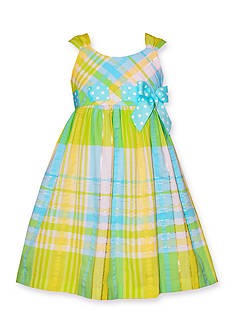 Bonnie Jean Plaid Seersucker Dress Toddler Girls