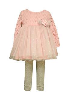 Bonnie Jean Infant Pink Dress and Legging Set