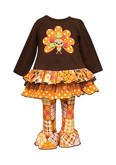 Bonnie Jean Ruffle Turkey Tunic & Legging Set Infant/Baby Girls