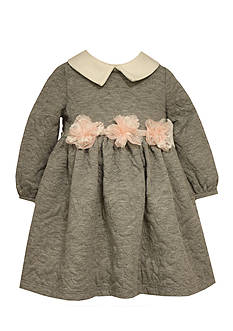 Bonnie Jean Quilted Collar Dress Infant/Baby Girl