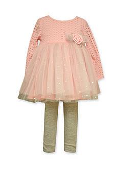 Bonnie Jean Crochet Tutu Legging Set Toddler Girls
