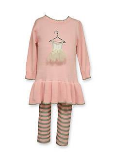 Bonnie Jean Tutu Sweater and Legging Set Toddler Girls