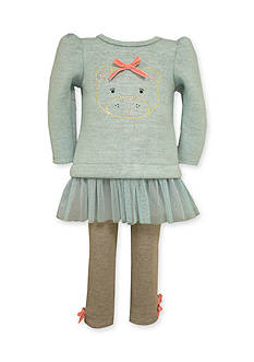 Bonnie Jean Bear Face Legging Set Toddler Girls