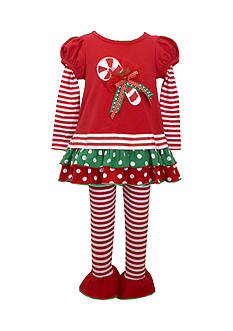 Bonnie Jean Candy Cane Legging & Tunic Set Infant/Baby Girls