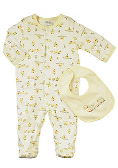 Little Me Duckie Stretchie with Bib - Newborn