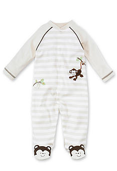 Little Me Monkey Footie - Newborn
