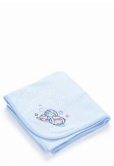 Little Me Newborn Sports Themed Receiving Blanket