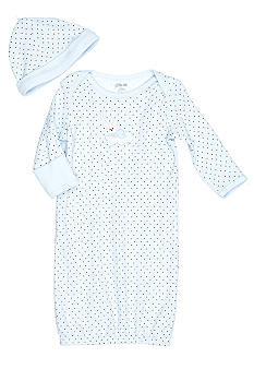 Little Me Blue Star Print Gown with Hat