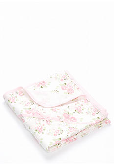 Little Me Newborn Cabbage Rose Blanket