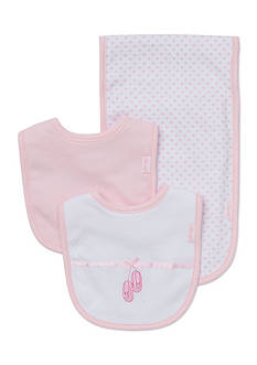 Little Me 3-Piece Ballerina Bibs and Burp Cloth Set
