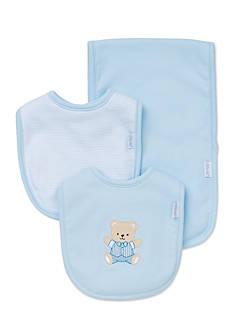 Little Me 3-Piece Cute Bear Bibs and Burp Cloth Set