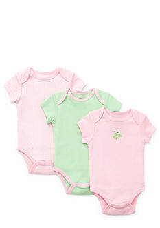 Little Me 3-Pack Froggy Bodysuits