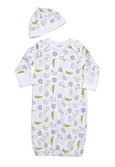 Little Me Safari Print Gown with Hat