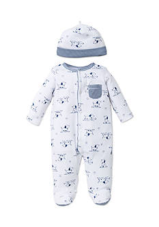 Little Me 2-Piece Puppy Footie and Hat Set
