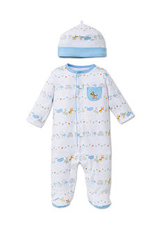Little Me 2-Piece Fun Safari Footie and Hat Set
