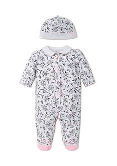 Little Me 2-Piece Bird Footie and Hat Set