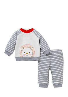 Little Me 2-Piece Striped Lion Sweatshirt and Pants Set