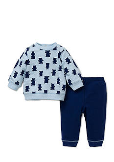 Little Me 2-Piece Bear Sweatshirt and Pants Set