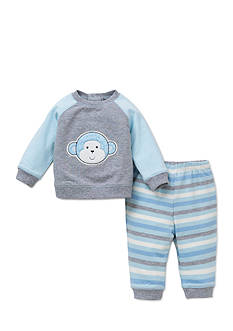Little Me 2-Piece Monkey Sweatshirt and Pants Set