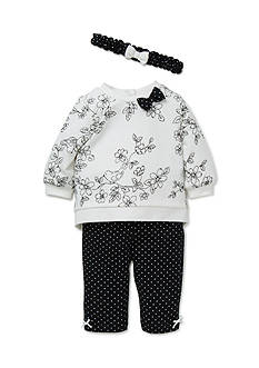 Little Me 3-Piece Bird Sweatshirt, Headband, and Leggings Set