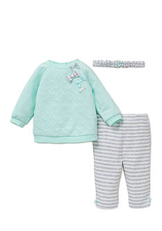 Little Me 3-Piece Heart Tunic, Headband, Leggings Set