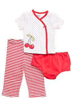 Little Me 3-Piece Cherry Pant Set