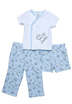 Little Me 3-Piece Baseball Diaper Pant Set