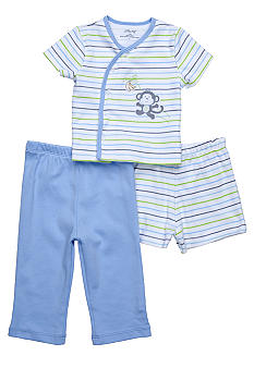 Little Me 3-Piece Monkey Diaper Pant Set