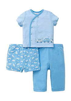 Little Me Cars 3-Piece Diaper Set
