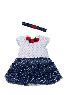Little Me USA Tutu Popover With Headband