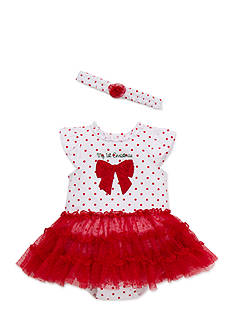 Little Me Polka Dot Rose Tutu Dress Set