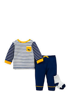 Little Me 3-Piece Tunic, Socks, and Jogger Pants Set