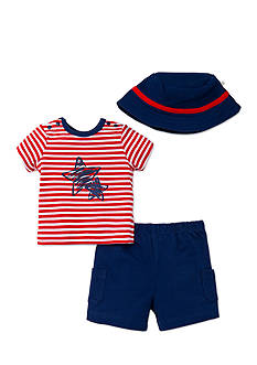 Little Me 3-Piece Stars-and-Stripes Short Set