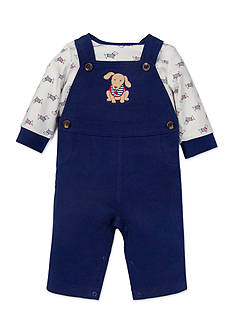 Little Me 2-Piece Dachshund Top and Overall Set