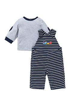 Little Me 2-Piece Train Tunic and Overall Set