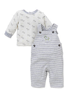 Little Me 2-Piece Zebra Tunic and Overall Set