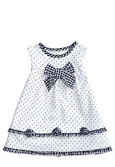 Little Me Gingham & Dot Dress