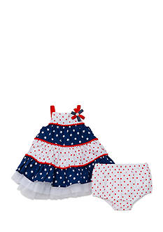 Little Me Patriotic Tier Dress With Panty