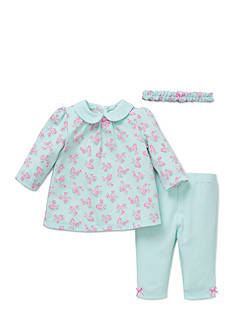 Little Me 3-Piece Floral Tunic, Headband, and Legging Set
