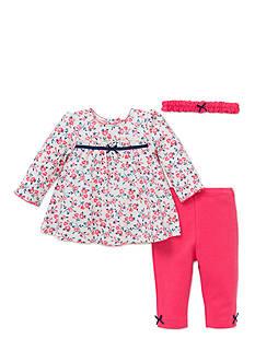 Little Me 3-Piece Trellis Rose Tunic Set