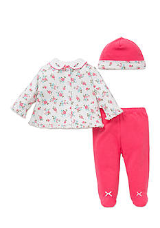 Little Me 3-Piece Floral Tunic, Hat and Footed Pants Set