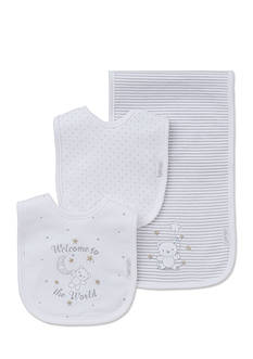 Little Me 3-Piece Bibs and Burp Cloth Set