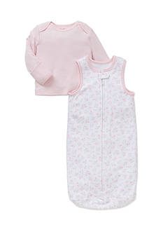 Little Me 2-Piece Floral Sleeveless Gown and Long Sleeve Shirt Sleep Set