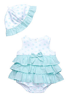 Little Me Dancing Butterflies Popover & Hat Set