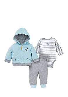 Little Me 3-Piece Puppy Onesie, Jacket, and Pants Set