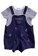 Little Me Nautical Shortall Set