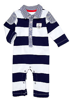 Little Me Drop Anchor Stripe  Coverall