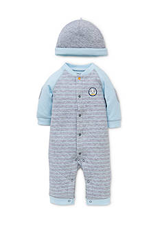 Little Me Puppy Talk Coverall with Hat Set