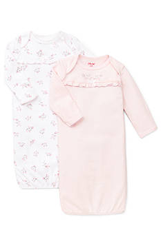 Little Me Dainty Rosebud 2-Pack Footie Set